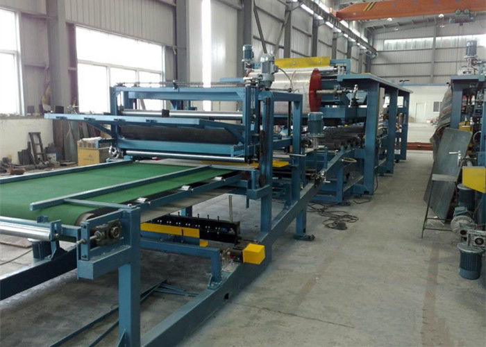 Colored Steel Continuous Sandwich Panel Production Line With 5 Tons Capacity